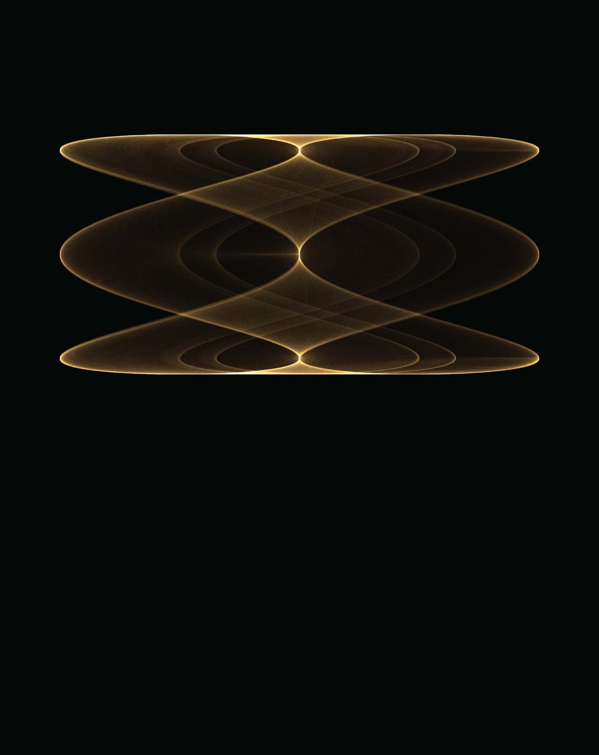 Gold helix against black background