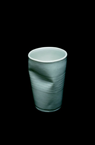 Recycled dented cup