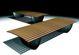 Bench in Terrazzo