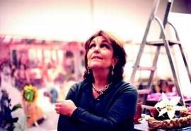 Paula Rego in studio