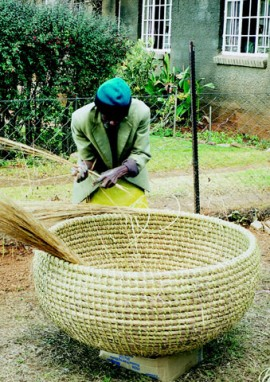 Ntate Nyabela, traditional basket maker