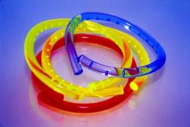 Four ultra-violet reflective bangles
