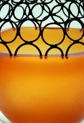 blown glass and copper wire
