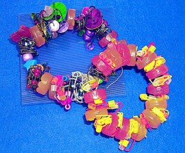 braclets produced by resident artist Shelley Moore