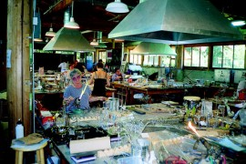 Resident Artist's Studio, Pilchuck Glass School, Seattle (interior)