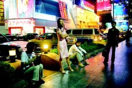 Sleeting Shadow-at the street