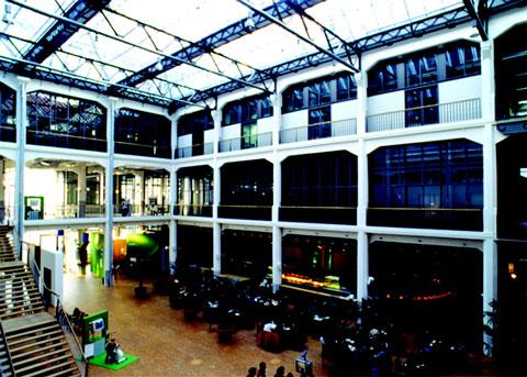 The foyer of ZKM Center for Art and Media