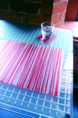 Coloured plastic coasters