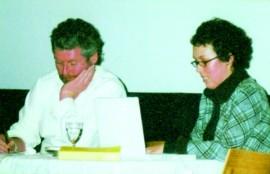Chair Jason E Bowman and speaker Robin Arseneault
