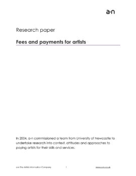 Fees and payments for artists