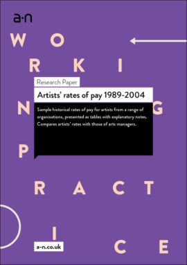 Artists' rates of pay 1989-2004