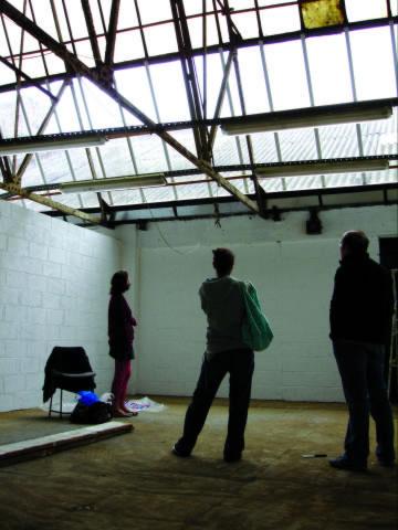 Work in progress on studios at Cell, Wallis Road