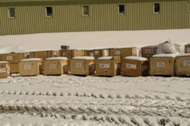 boxes waiting to be unpacked at base
