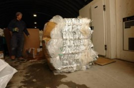 plastic bale ready for shipping back