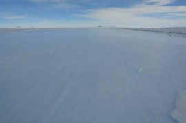the blue ice runway - after the snow clearing operation!