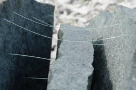 glass and split stone