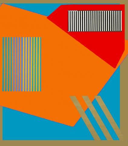 Blue Pink Orange Diagonal