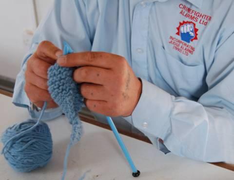 Tony knits