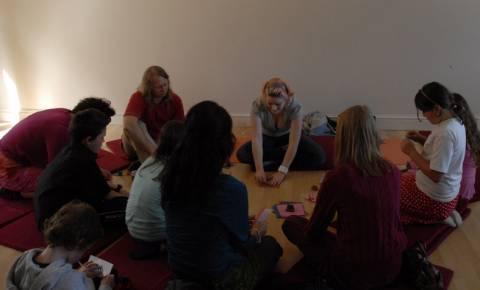 Origami workshop at Buddhist Centre Brighton