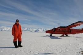 me at the the Ellsworth mountains, 2hrs south of Sky Blue, dropping fuel off for Hugh, David, Hamish and Carl