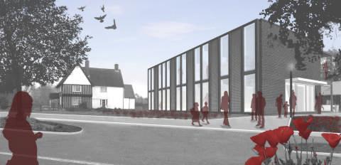 Architects impression, Wysing Arts Centre, London Architects HawkinsBrown.