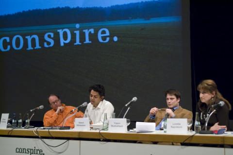 Brian Holmes, Naeem Mohaiemen, Yassin Musharbash, Loretta Napoleoni, transmediale 08 - conference