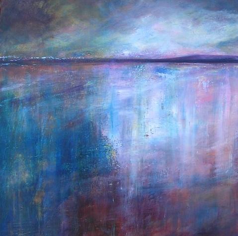evening shore (60 x 60cms)