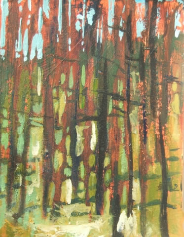 Pine Trunks, Hafod
