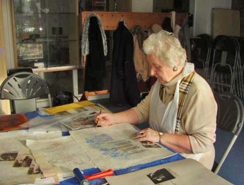 Polish Elders print workshop