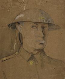 Self-Portrait in a Steel Helmet