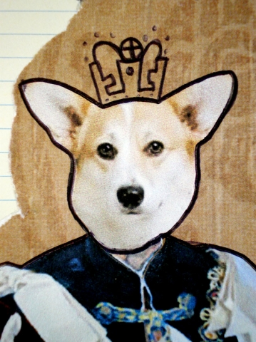 Corgi Queen (detail)