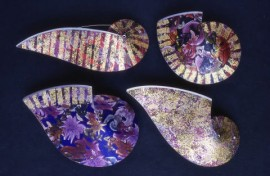 Paisley brooches