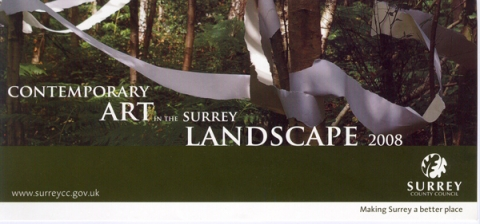 Flier for: Contemporary Art in the Surrey Landscape