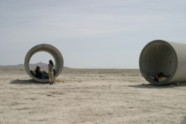 Visiting Nancy Holt's Sun Tunnels
