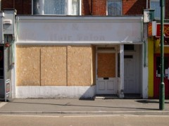dis-used shop front