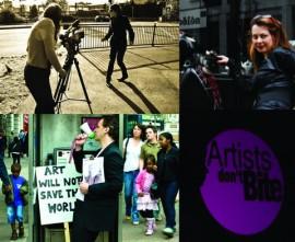 Artists don't bite, production shot