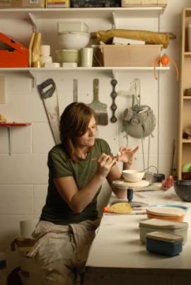 Helen Johannessen in her studio