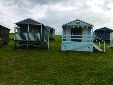 Beach huts on Tankerton Beach
