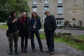 BOSarts goes up north: from left artists Ian Whitford, Rebecca Weeks, Veronica Vickery and Jon Brook