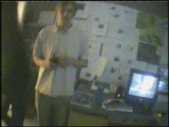 Live Run (Dominik next to receiving computer with walkie-talkie )
