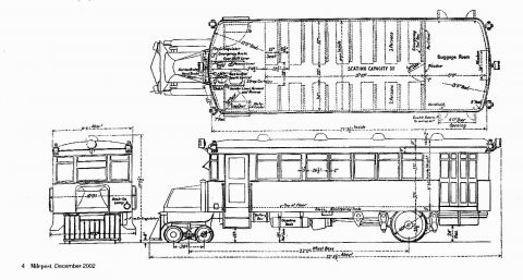 Drawing of American school bus