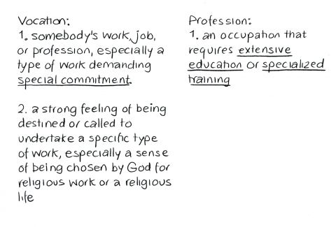Vocation or Profession