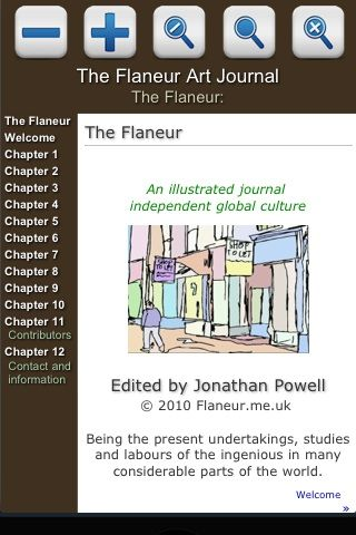 The Flaneur iphone app