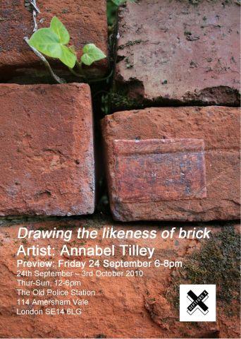 Drawing the likeness of brick