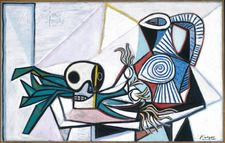 Still Life with Skull, Leeks and Pitcher, March 14, 1945