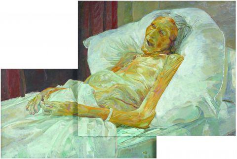 Last portrait of mother