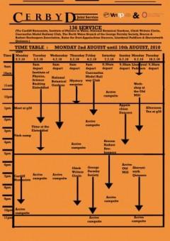 Cerbyd Timetable
