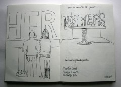 From my sketch book - Martin Creed's MOTHERS