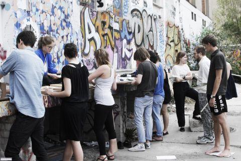 Parallel School of Art in Berlin, July 2010 (book binding workshop)