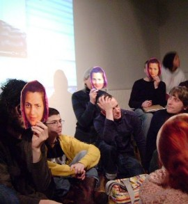 Artists and curators talking, Liminal Space, Cardiff, 2011